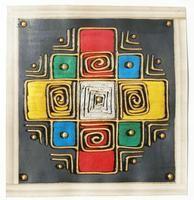 Arte precolombino Popular Art, Arte Popular, Batik Art, African Mud Cloth, Fabric Paper, Leather Fabric, Deco, Mixed Media Art, Art Drawings
