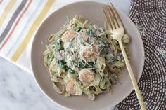 Guilt-free shrimp and veggie fettuccine with cauliflower alfredo | Snixy Kitchen  http://www.snixykitchen.com/2014/05/12/guilt-free-shrimp-and-veggie-fettuccine-with-cauliflower-alfredo-a-giveaway/#comment-42597