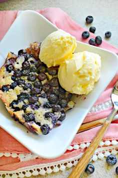 Slow cooker blueberry cobbler gets dessert ready before your guests arrive. Don't forget the ice cream for summertime perfection!