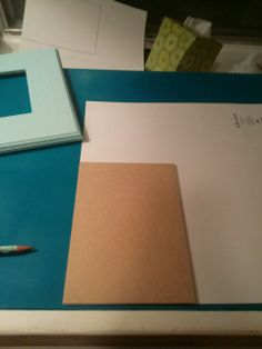 Use cardboard to trace over your scrap book paper.