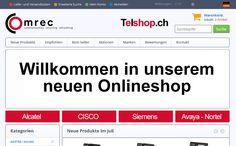Wir erstellten für die Firma Comrec GmbH, Telshop.ch, eine professionelle E-Commerce Infrastruktur, basierend auf OSCommerce.