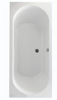 323 euro Baignoire rectangulaire vidage central TEHINA Blanc Acrylique 170X75 NABIS