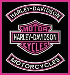 HARLEY-DAVIDSON-3-PIECE-XL-FULL-SET-EMBROIDERED-PATCH-ROCKERS-HD-LOGO-PINK-USA. This company makes the BEST patches...I've ordered several and love them.