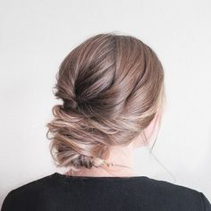 Beautiful textured updo wedding hairstyle for romantic brides - Bridal hairstyle. Get inspired by this low updo bridal hair gorgeous styles,hairstyles
