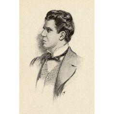 Pietro Mascagni 1863-1945 Italian Composer Portrait By Chase Emerson American Artist 1874-1922 Canvas Art - Ken Welsh Design Pics (12 x 18)