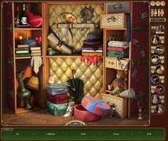 The Valise in Hotel Enigma Hidden Object Games, Hidden Objects, Mystery Games, Bookcase, Home Decor, Suitcase, Decoration Home, Find Hidden Objects Games, Room Decor