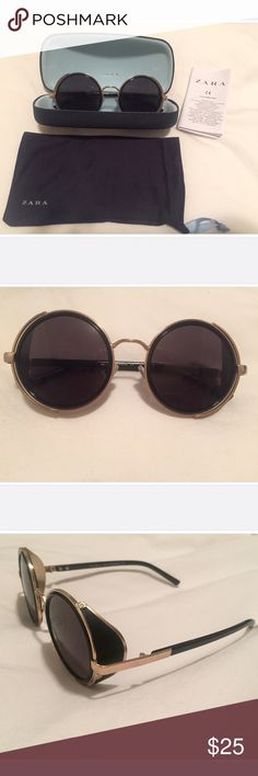 Zara Sunglasses Zara Sunglasses. Worn once! Great condition. Really funky frames for a cool look. Comes with hard case and cloth bag. Zara Accessories Sunglasses