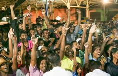 President Mahinda Rajapaksa participated in a campaign rally in Akkaraipattu, Dec. 20.