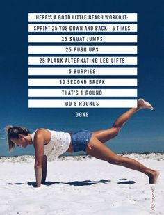 I did this circuit today on the beach. It took about 20 minutes....