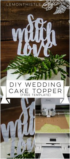 Wedding diy cricut cake toppers 35 Ideas for 2019 Diy Wedding Cake Topper, Diy Cake Topper, Cake Topper Tutorial, Cricut Cake, Wedding Crafts, Wedding Tips, Wedding Planning, Trendy Wedding, Free Wedding