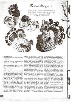 Kurka i kogucik Easter Crochet Patterns, Crochet Birds, Crochet Doilies, Knit Crochet, Crochet Hats, Easter Baskets, Easter Eggs, Tatting, Crochet Earrings