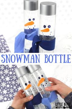 Winter Science Activities For Kids Easy to make snowman sensory bottle for kids winter activities activities Kids science winter winteractivities winterchristmas winterillustration winternature winterpictures winterscenes wintervibes winterwedding Holiday Activities For Kids, Science Activities For Kids, Winter Crafts For Kids, Crafts For Boys, Winter Kids, Infant Activities, Play Activity, Science Ideas, Science Projects