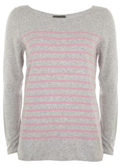 Grey and Candy Stripe Tunic - good colours for you...bit of a no-brainer jumper for every day