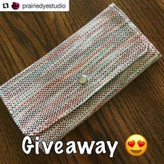 Hop over and check out Melissa's giveaway and enter on her post. You can also see the inside of the wallet.. #Repost @prairiedyestudio (@get_repost)  I'm doing an Instagram Giveaway!  Karlee of @crimsonclover.handwoven added the most gorgeous Handwoven wallet to my order!! She is such a talented lady and makes the most gorgeous Handwoven items! If you'd like a chance to win this wallet just comment below! A winner will be announced July 1  In the mean time you should totally check out all…