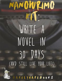 Now, anyone can participate in NaNoWriMo this year! This kit organizes a great schedule for completing a 50,000 word novel in just 30 days while still keeping your day job and having fun.