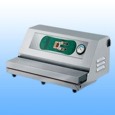 Vankomorne vakumirke  EPA ELIX -dimenzije: 420x280x170 -širina varilice: 400 mm -vakum pumpa: Q= 20 lt/min -težina: 9 kg -napajanje: 230 V/50 Hz  -materijal: inox