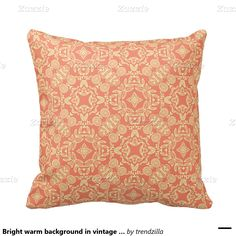 Bright warm background in vintage style. pillow