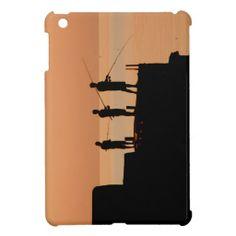 Sunset fishing iPad mini cover