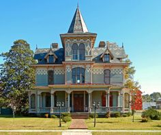 Hoffman-Riddick House, ca. 1889: Scotland Neck, NC.  Built by wealthy merchant, Max Hoffman, who immigrated from Germany after the Civil War, this house has some of the finest Victorian detailing in the State