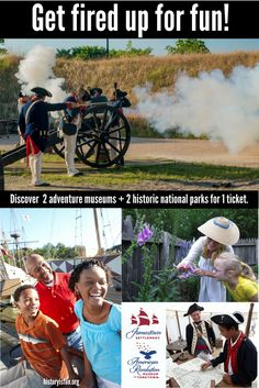 Online ticket deals for summer savings: Visit 4 historical venues with 1 ticket! Enjoy 7 consecutive days of unlimited admission to Jamestown Settlement, Historic Jamestowne, American Revolution Museum at Yorktown and Yorktown Battlefield. Take a summer vacation your kids and family will never forget. Come explore fun, interactive exhibits, replicas of 1607 ships, a re-created colonial fort, Powhatan Indian village, Revolution-era farm and Continental Army encampment. historyisfun.org