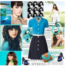 """""""Zooey Deschanel"""" by nadiae on Polyvore"""