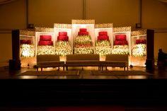 Decors - Wedding Stage Decorators In South India, We… Pakistani Wedding Stage, Ethnic Wedding, Floral Wedding, Red Wedding, Reception Stage Decor, Wedding Stage Decorations, Wedding Table Setup, Wedding Ideas, Wedding Venues