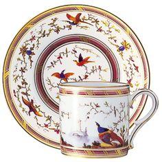 Litron Cup & Saucer - Birds in the Countryside Tea Cup Saucer, Tea Cups, Manufacture De Sevres, Vintage Porcelain Dolls, Teapots And Cups, Tea Service, Antique China, Tea Bowls, China Porcelain