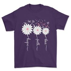 Faith Hope Love Butterfly Tee Daisy Shirts-SFNeewho-Mercantile Americana Faith Hope Love, Black And Navy, Online Shopping Clothes, Fashion Advice, Women's Tees, Shirts, Butterfly, Purple, Size Chart