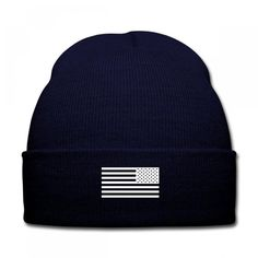 american flag tactical subdued Knit Cap