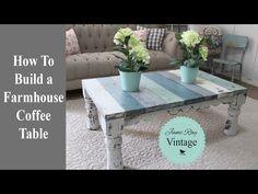 How To Build A Farmhouse Coffee Table - YouTube