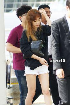Taeyeon <3 140802 @ Incheon Airport to Hong Kong