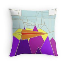 """Paper Airplane 52"" Throw Pillows by YoPedro 