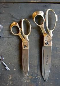Brass & Steel Fabric Scissors : Remodelista. fair trade: made for generations by a family in India.