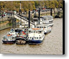 Awaiting Sail Canvas Print / Canvas Art By Dorothy Berry-lound #thames #london  #interiordecor #printforsale