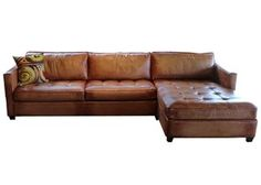 Artistic Leather Sofa Sectional | Amaretto Chaise Leather Sectional By  Artistic Leather