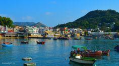 take a boat to Lamma Island in Hong Kong