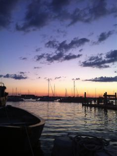 rhode island sunset. - the good life was sailing on the bay!