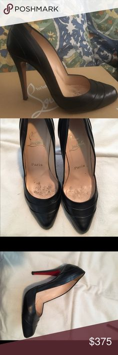 Christian Louboutin Black pumps Worn three times. In great condition. Small signs of wear if you look very closely at the toe and on heels Christian Louboutin Shoes