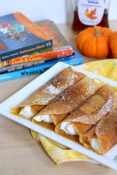 Pumpkin Crepes with Cheesecake Filling