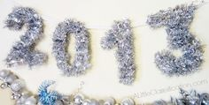 Easy DIY Sparkly Garland Numbers for New Years Eve! ALittleClaireification.com #NewYear #Crafts #NewYearsEve