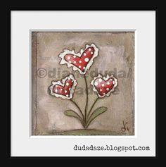 Print of my original folk art painting Love Grows ©dianeduda/dudadaze