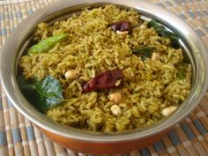 vegetarian recipes Dishes Gongura Pulihora - Spiced Red Sorrel Leaves Ricipe - Andhra Recipes - Indian Dishes Recipes - Sailu's Kitchen Best Picture For Vegetarian Recipes quinoa For Yo Curry Recipes, Rice Recipes, Lunch Recipes, Cooking Recipes, Dishes Recipes, Recipies, Rice Dishes, Food Dishes, Food Food