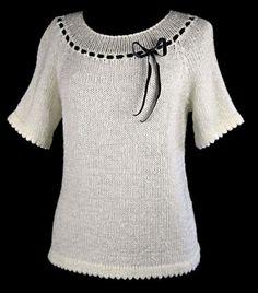 CutiePie Top Machine Knit Pattern by LindasCrafts on Etsy