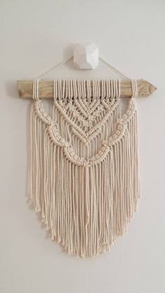 Macrame Wall Hanging | Esther | Scalloped, layered, modern, simplistic. by WallflowerAndWyatt on Etsy https://www.etsy.com/listing/565369923/macrame-wall-hanging-esther-scalloped