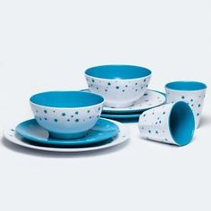 Melamine-Dinner-Set-8-Piece-Star-Cyan-Shatterproof-BPA-Free-by-Barel-Designs Melamine Dinner Set, Caravan Decor, Dinner Sets, Star, Free, Design, Stars