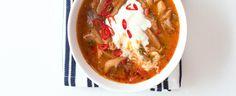 Dršťková polévka z hlívy ústřičné Cheeseburger Chowder, Thai Red Curry, Chili, Good Food, Cooking, Ethnic Recipes, Soups, Yum Yum, Kitchen