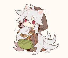 Atticus, Albedo, Neko, Kawaii Anime, Cute Art, Anime Characters, Otaku, Chibi, Anime Art