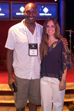 "Rory Freedman, author of NYT Best Seller ""Skinny Bitch"" and her current animal compassion book ""Beg"", pictured here with cruise goer, Reggie Tidwell. #roryfreedman #skinnybitch #vegantravel #sexyvegan"