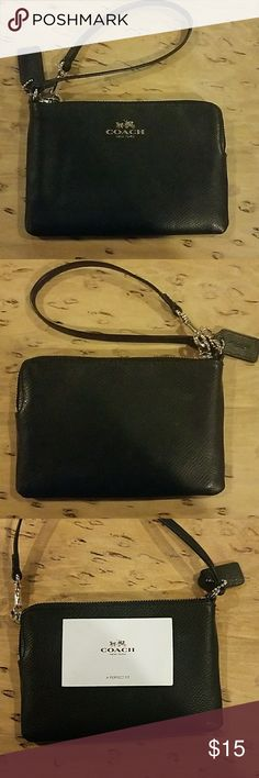 Coach wallet Black leather coach wallet Coach Bags Wallets