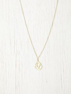 Zodiac Necklace- leo